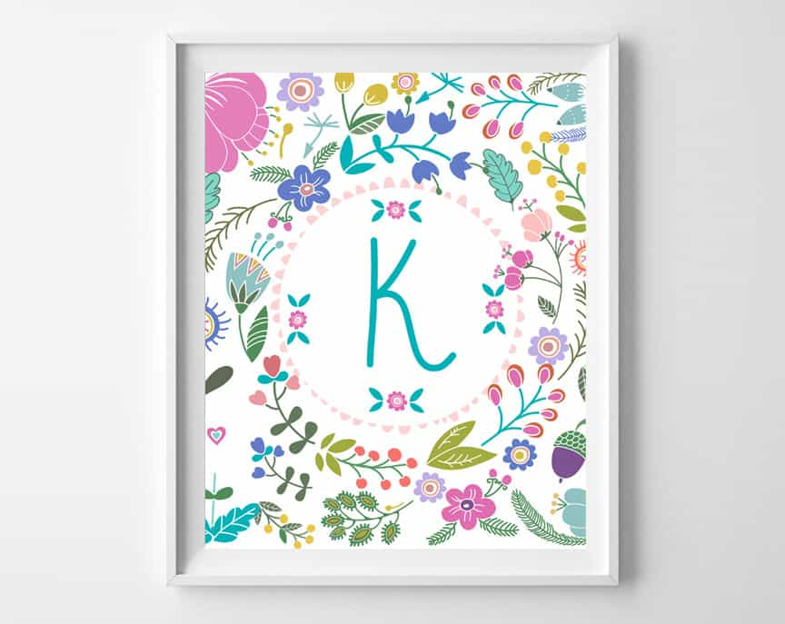 free printable art baby girl gift idea