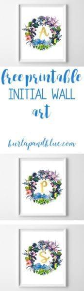 initial art printable