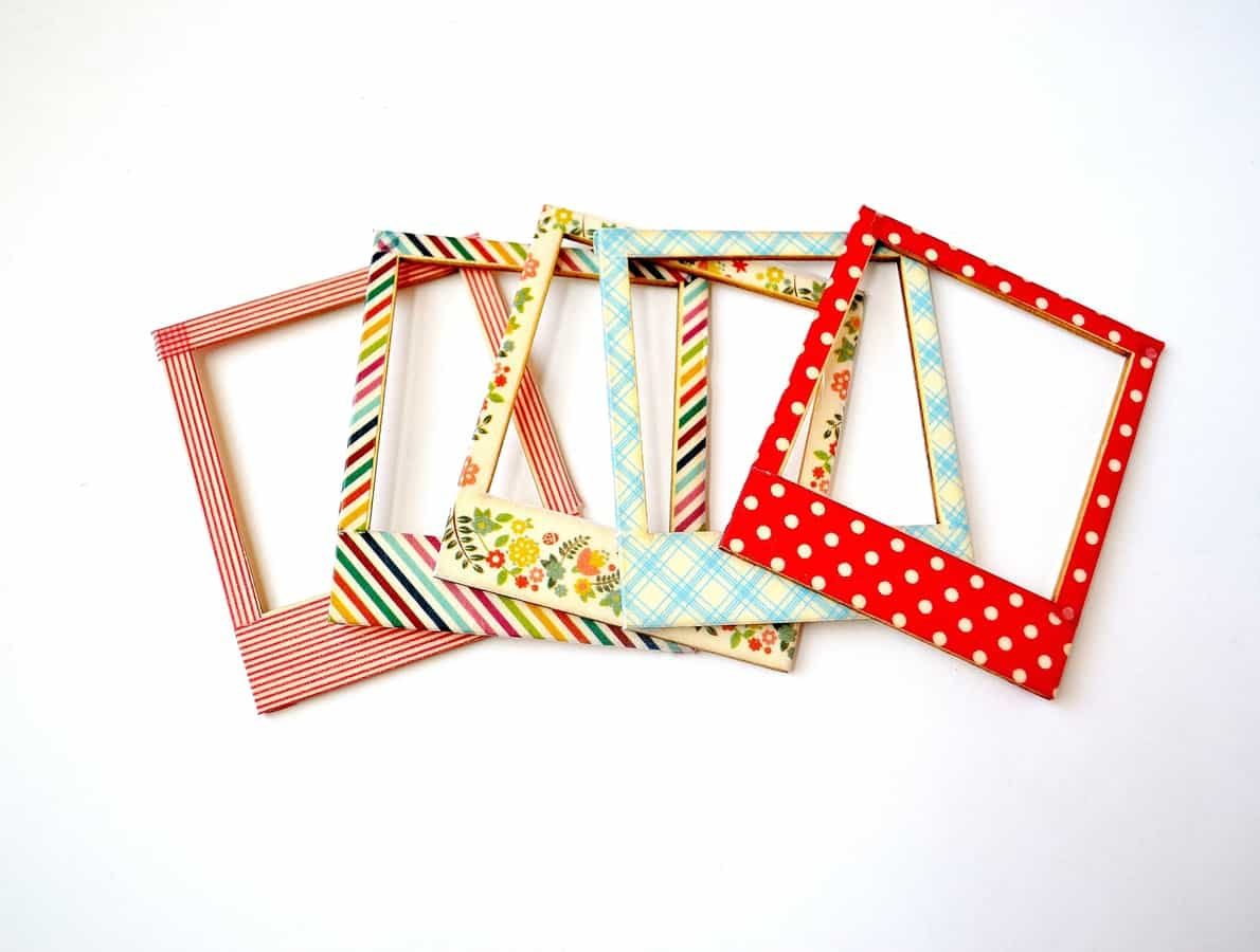 Washi tape frames for Crafts with washi tape