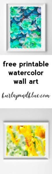 watercolor printable art