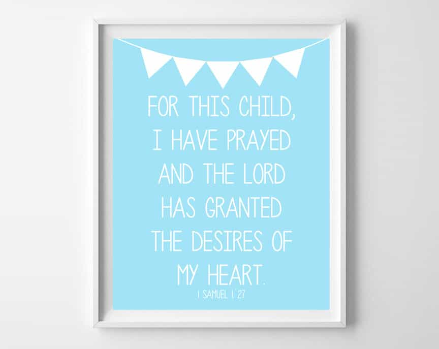 Prayer For Baby Free Printables