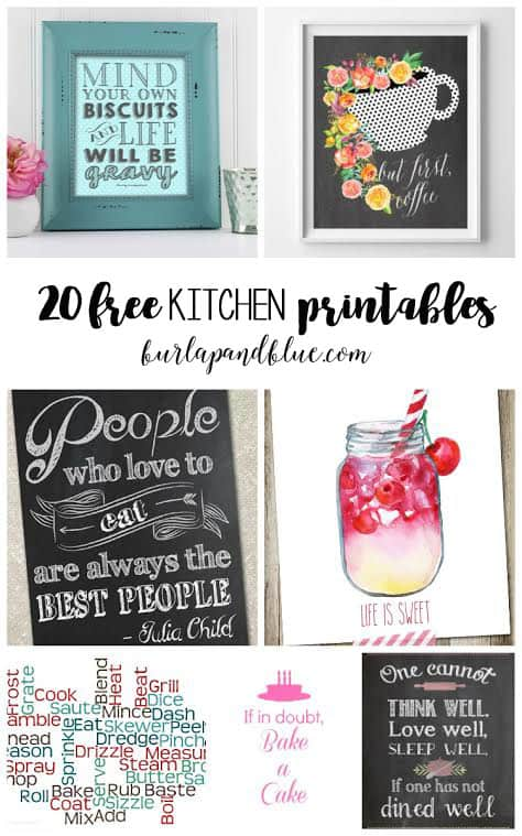 Printable Wall Art {For the Kitchen}