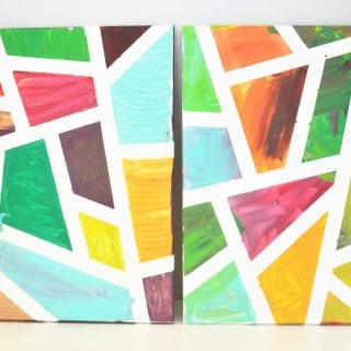 geometric canvas art with Procter & Gamble