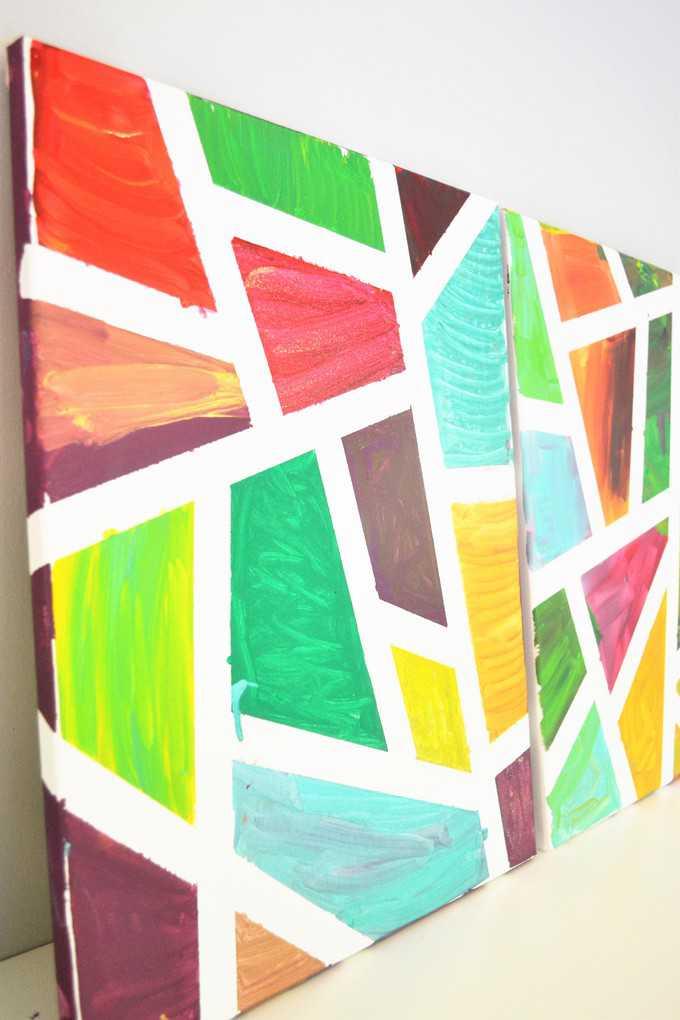 geometric canvas art