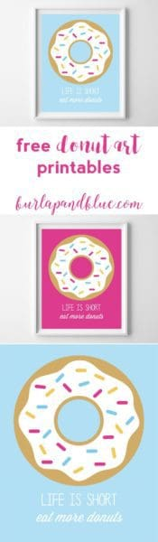 donut printable art