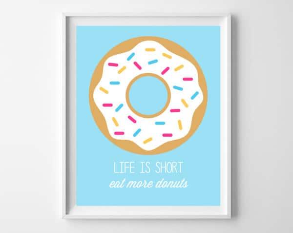 donut printable