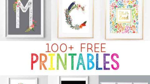 free printables for the home   nursery printables   home decor   wall art   inexpensive art