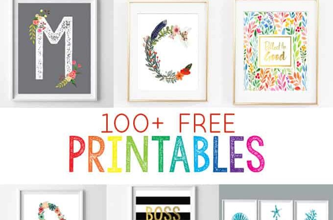 free printables for the home | nursery printables | home decor | wall art | inexpensive art