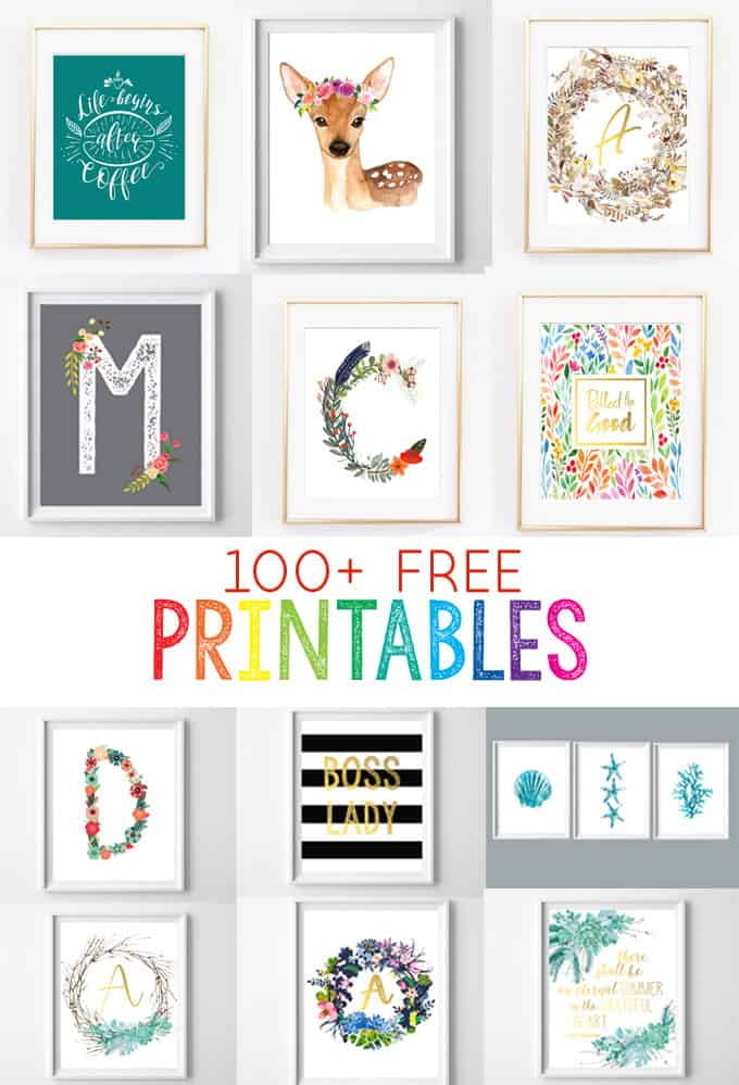 This is an image of Zany Free Printables for Home Decor