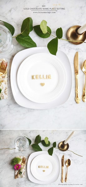 gold-chocolate-name-place-setting_le-zoe-musings-2