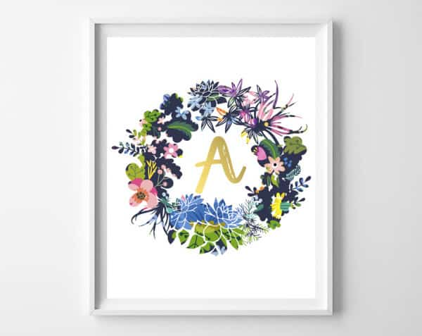 wreath name art 2