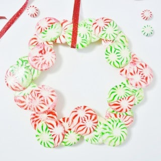 starlight mint christmas wreath {a tutorial}