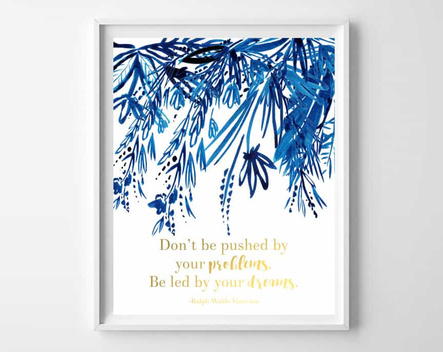 indigo gold printable