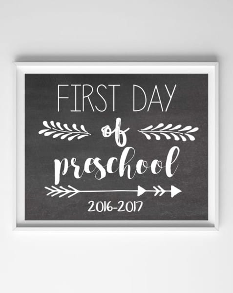 image regarding First Day of School Printable Sign identify 1st Working day of University Symptoms Absolutely free Printables