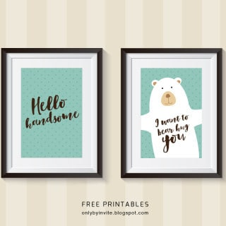 50 free printables for boys (inexpensive nursery art or baby shower gifts)