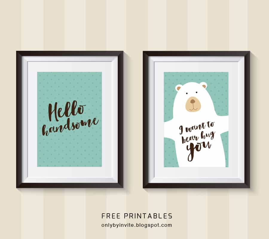 Free Nursery Printables And Wall Art For Boys