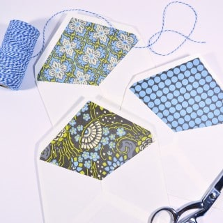 DIY envelope liners {a tutorial}