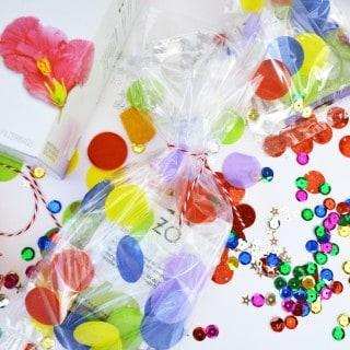 DIY confetti bags + free printable tea art