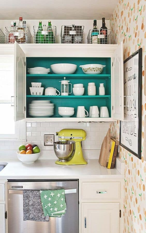 decorating above kitchen cabinets 4