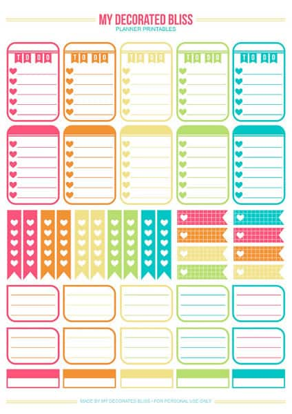 photo regarding Happy Planner Printable identify Weekly Planner Printables Absolutely free for Your Satisfied Planner