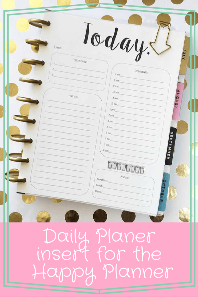 image relating to Free Happy Planner Inserts called Weekly Planner Printables Absolutely free for Your Content Planner