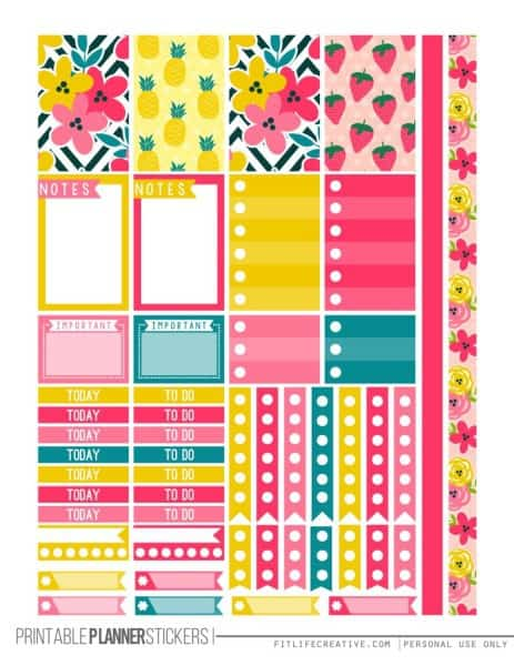 printable planner pages
