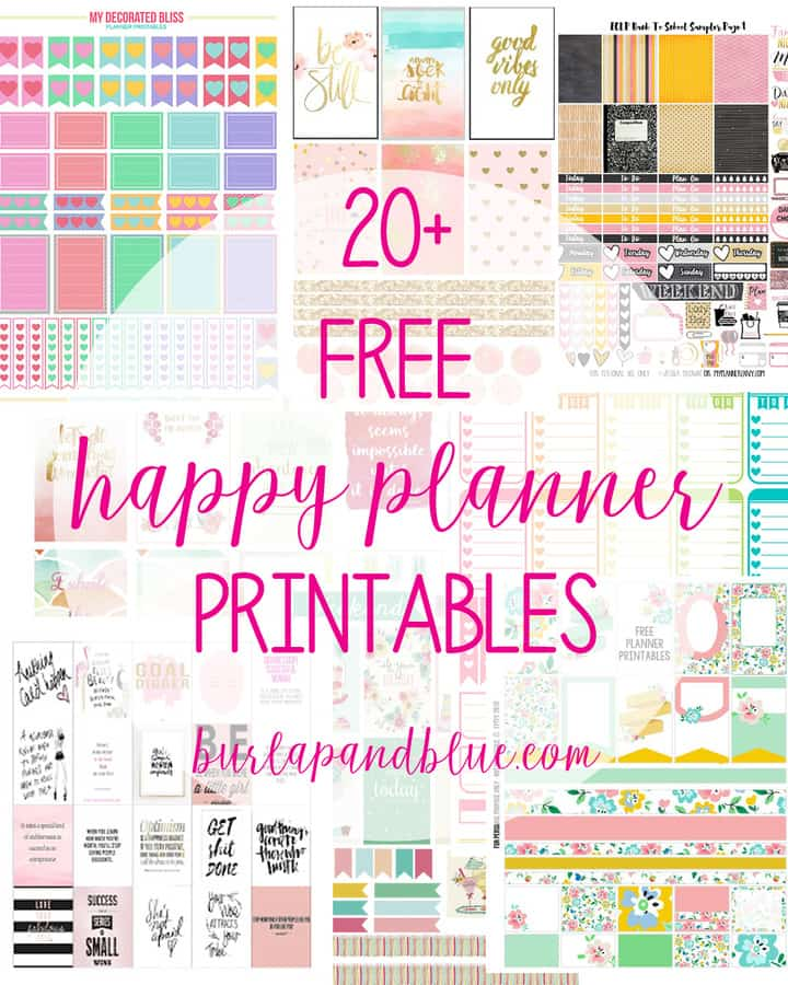 Gorgeous image with planner printable