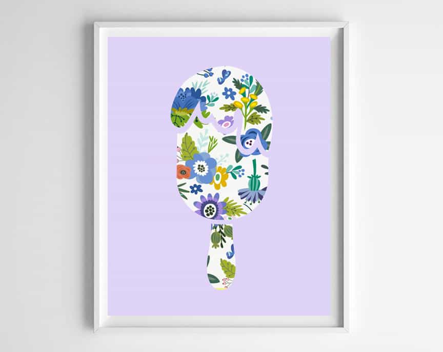 popsicle printable art
