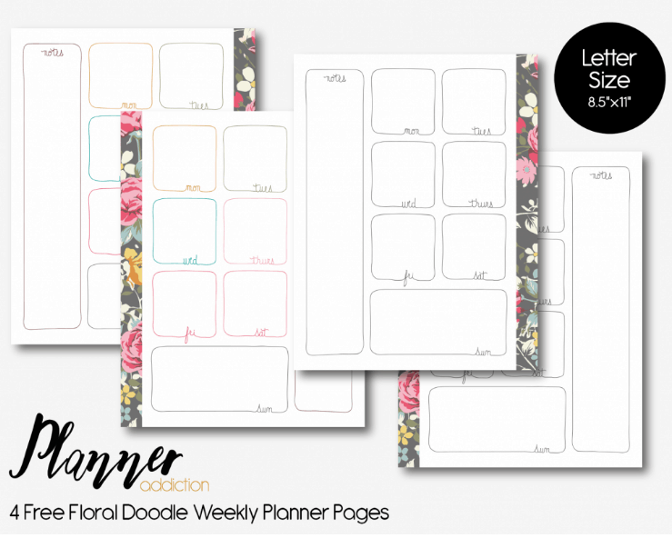 picture about Free Weekly Planner Printable known as Weekly Planner Printables Absolutely free for Your Pleased Planner