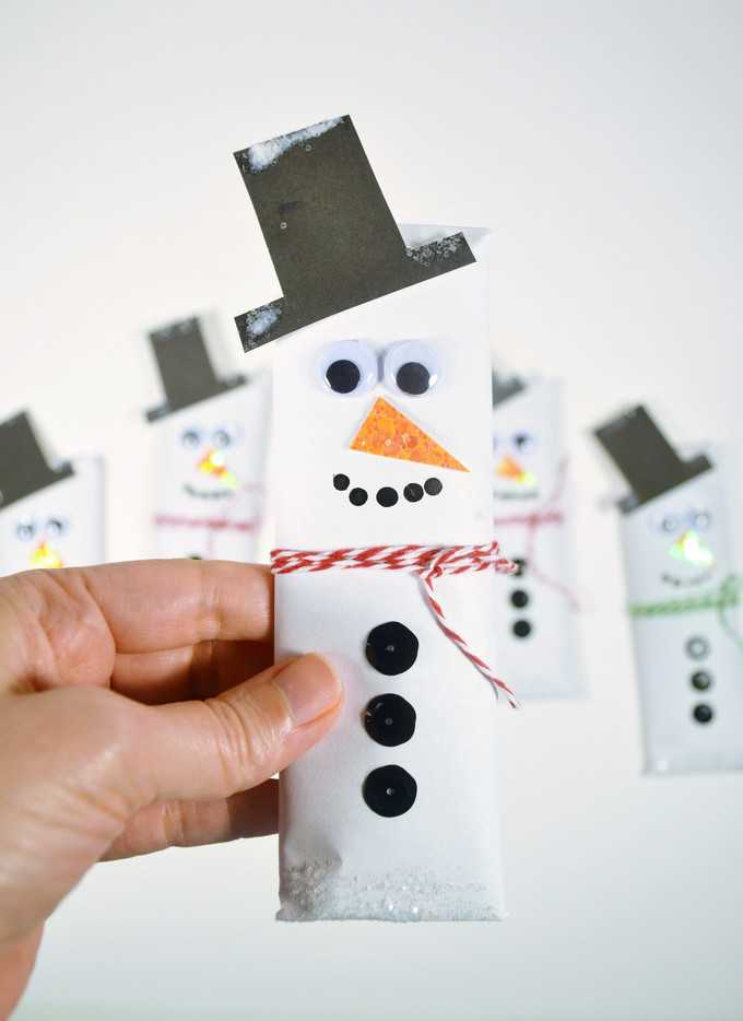 snowman candy bars wrappers