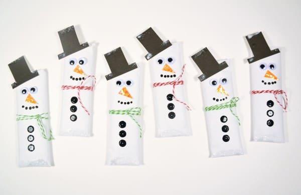 snowman candy bar