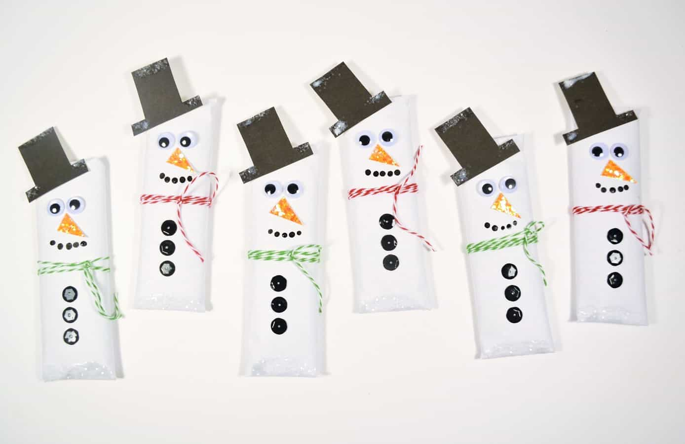 snowman candy bars wrappers 10