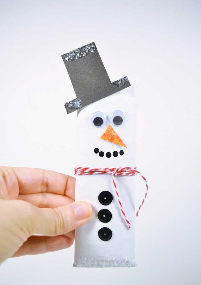 snowman candy bars wrappers 9