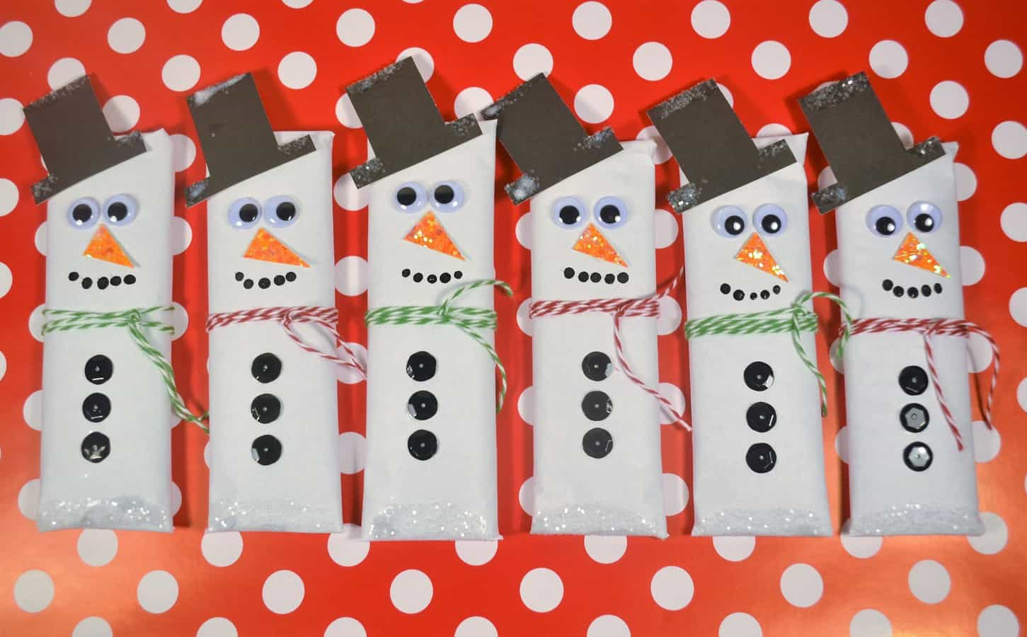 snowman candy bars wrappers 2