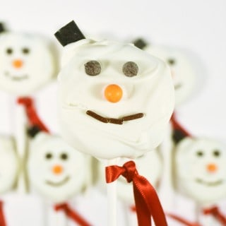 snowman cookie pops {a recipe}