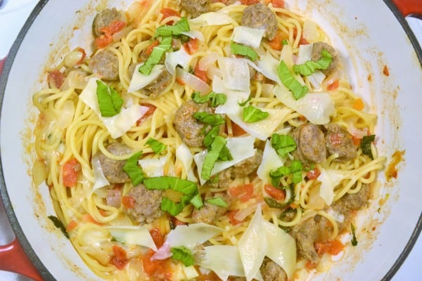While At My Local Martins Food Markets Store The Other Day I Picked Up Some Ingredients For This One Pot Pasta Recipe Including Johnsonville Italian