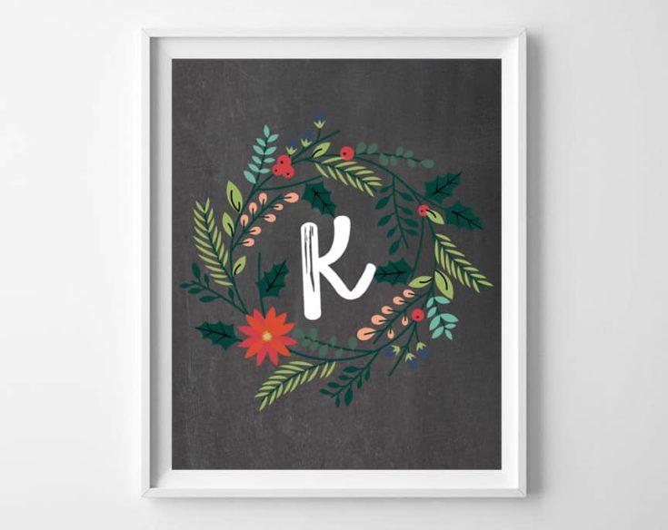 Christmas Printables {Free Alphabet Wall Art}