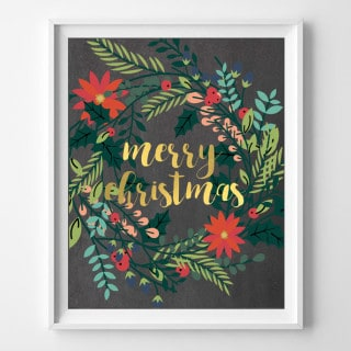 modern christmas printable art