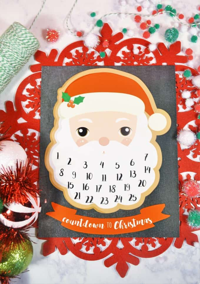 printable advent calendar
