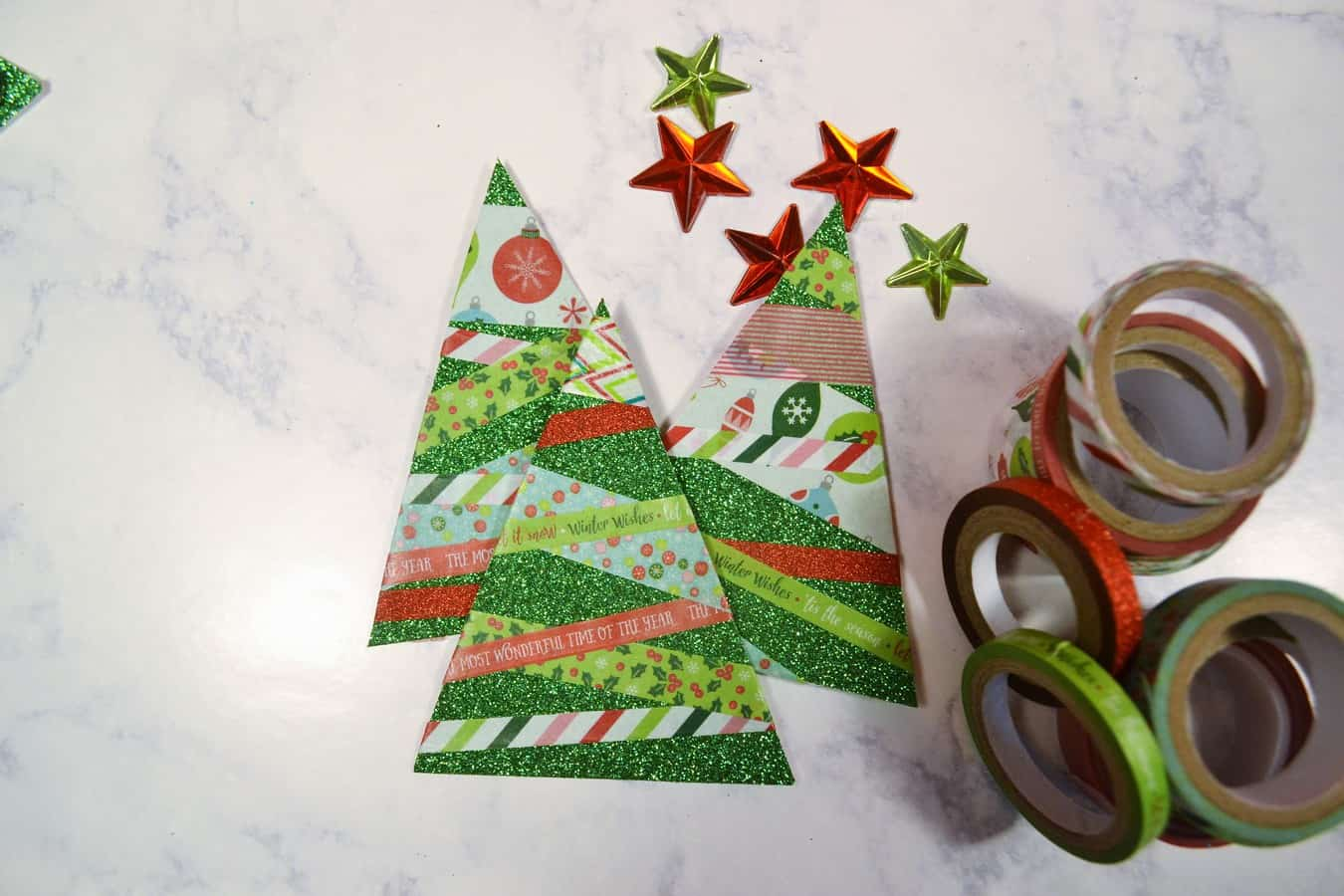 Make Paper Christmas Trees 4
