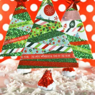 Make Paper Christmas Trees {With Washi Tape}