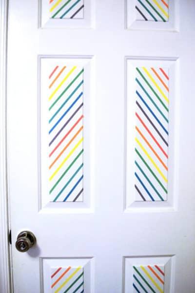 Washi Tape Door Decor With Schlage