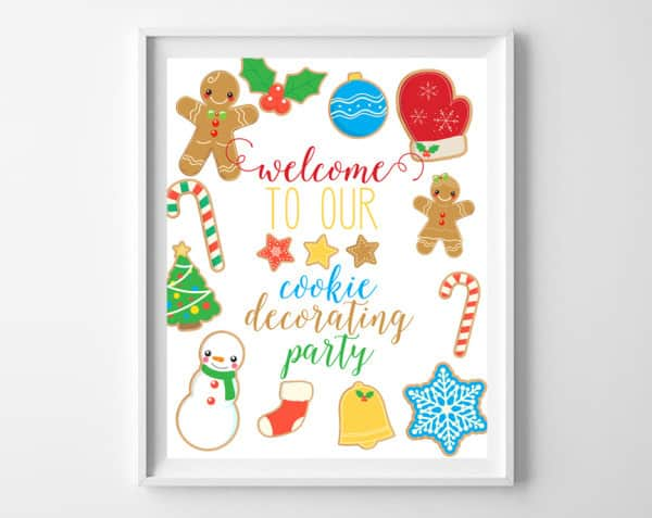 cookie decorating free printable