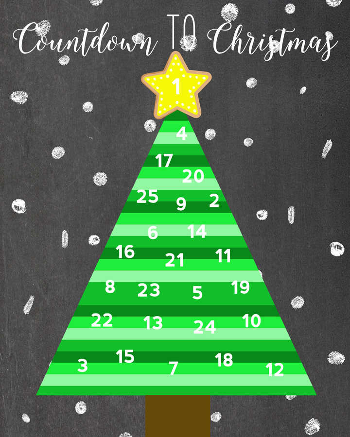 image relating to Printable Christmas Calendar identified as Introduction Calendar Strategies Sharing 3 Free of charge Printable Arrival