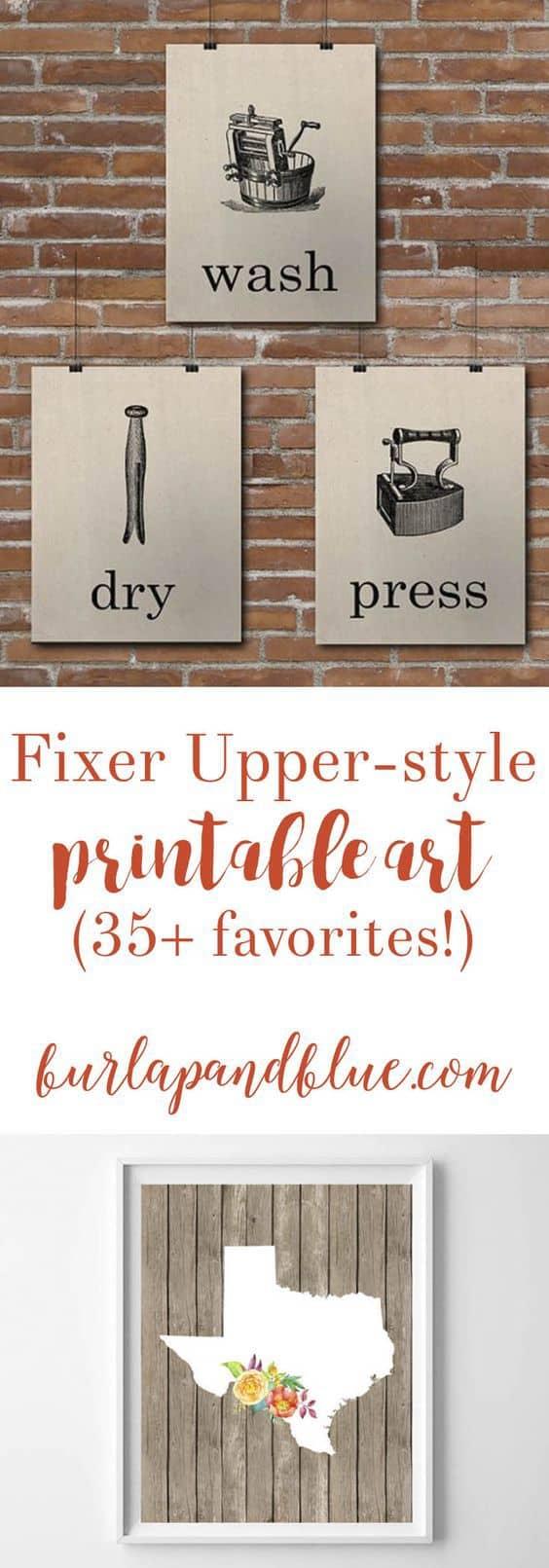 Wall Art Ideas Inspired By Fixer Upper