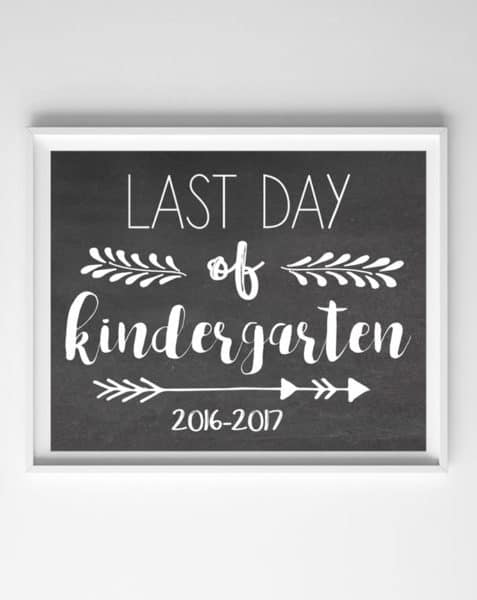photograph relating to Last Day of Kindergarten Printable called remaining working day of college printable symptoms