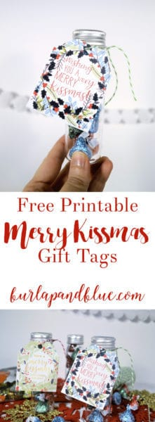 merry kissmas tags