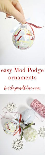 mod podge ornaments