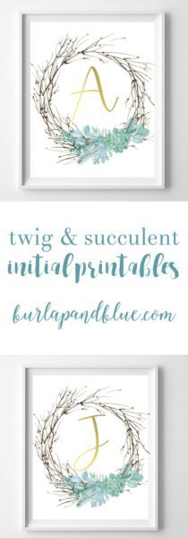 succulent printable art