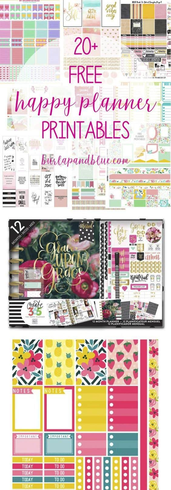 picture relating to Free Happy Planner Printables named Weekly Planner Printables No cost for Your Satisfied Planner
